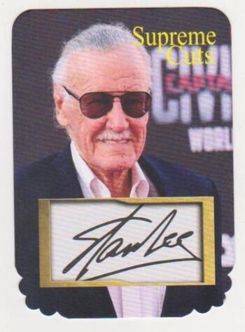#48/75 Produced - Stan Lee Facsimile Autograph Supreme Cuts Die Cut Card - Scarce!