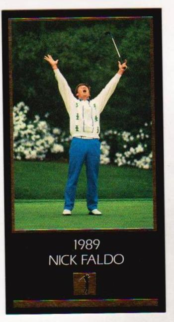 1997 Nick Faldo GOLD FOIL Grand Slam Ventures - 1989 Masters - Tough To Find