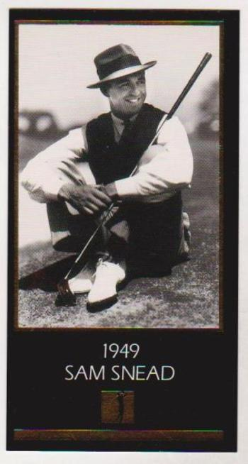 1997 Sam Snead Gold Foil Grand Slam Ventures - 1949 Masters