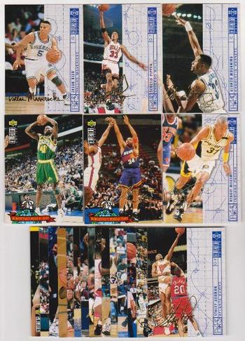 21 Gold Signature Inserts - 1994-95 Collectors Choice International -  Kidd, Pippen, Barkley & More