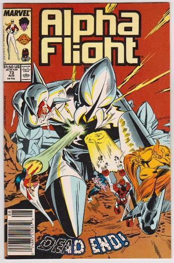 1989 ALPHA FLIGHT #73 Issue - Marvel Comics
