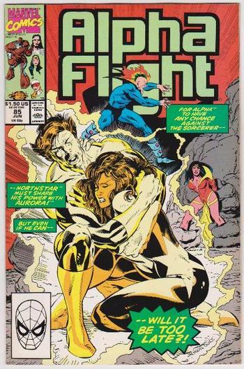 1990 ALPHA FLIGHT #85 Issue - Marvel Comics