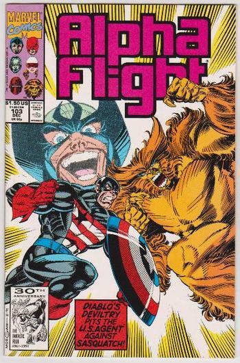 1991 ALPHA FLIGHT #103 Issue - Marvel Comics