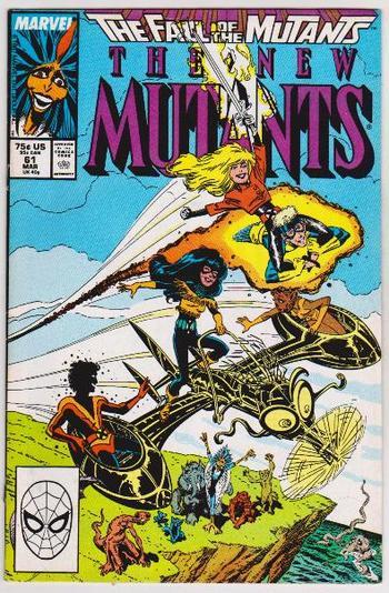 1988 THE NEW MUTANTS #61 Issue - Marvel Comics