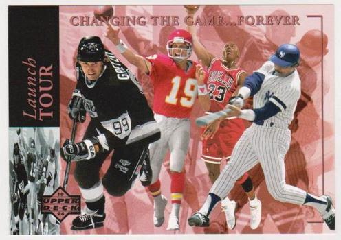 1994 UDA Michael Jordan/Joe Montana/Wayne Gretzky/Reggie Jackson 3.5x5 Launch Tour C-Card