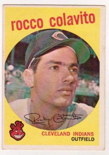 "1959 Topps ""Rocky"" Rocco Colavito #420 Card"