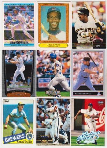 Baseball Card Collection 1985-1999 w/ Ernie Banks, Ken Griffey, Jr. + More