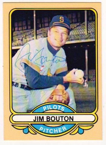 Signed - Jim Bouton 1984 Renata Galasso Autographed Seattle Pilots Card - Retired All-Star