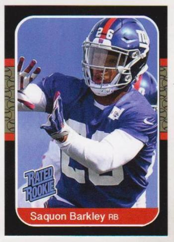 Rookie - Saquon Barkley 1987 Donruss Rated Rookie Style ACEO RP Card
