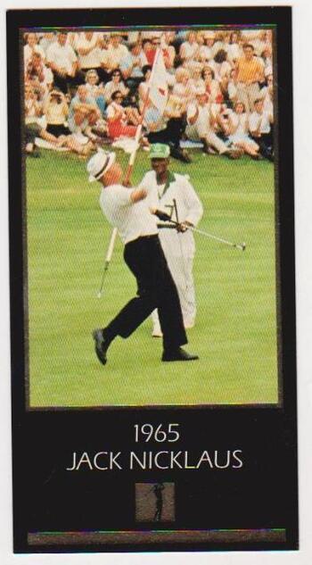 1997 Jack Nicklaus Gold Foil Grand Slam Ventures - 1965 Masters