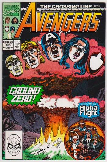 1990 The Avengers #323 Issue - Marvel Comics