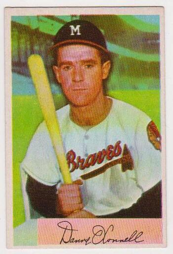 1954 Bowman Danny O'Connell #160 Card - Milwaukee Braves