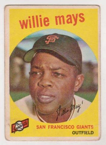 1959 Topps Willie Mays #50 Card - HOF'er
