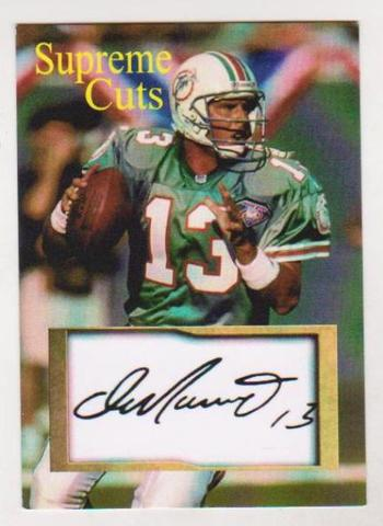 #34/50 Produced - Dan Marino Facsimile Autograph Supreme Cuts Card - Scarce!