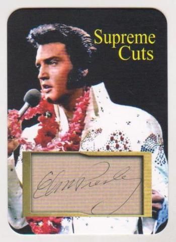#15/50 Produced - Elvis Presley Facsimile Autograph Supreme Cuts Die Cut Card - Scarce!