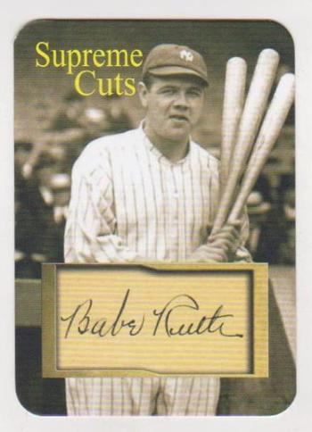 #17/50 Produced - Babe Ruth Facsimile Autograph Supreme Cuts Die Cut Card