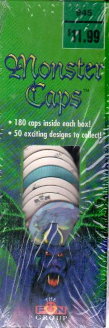 Sealed - 4 BOXES Of 1995 Monster Caps (Pogs) 180 Per Box- 720 Total Pogs/Caps By The Fun Group