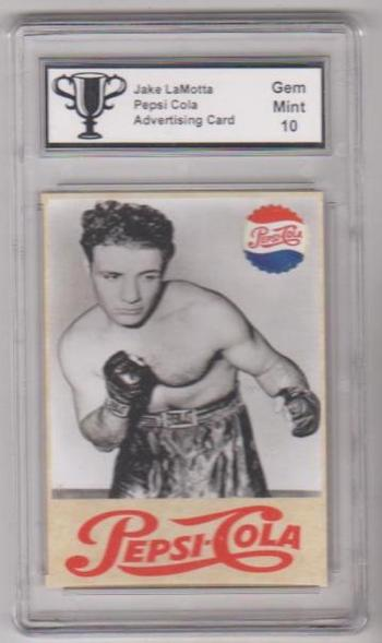 Graded Gem Mint 10 Jake LaMotta Pepsi Cola Advertising Promo Card
