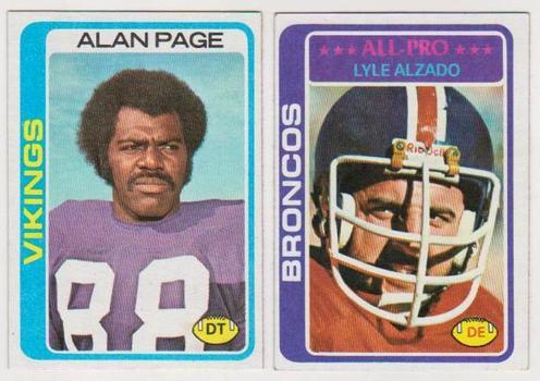 1978 Topps Alan Page #406 + Lyle Alzado #40 Card Pair