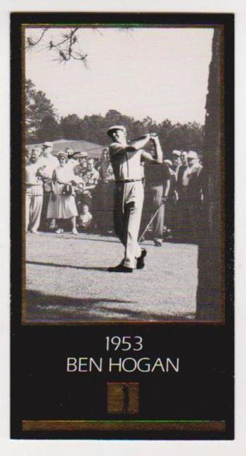 1997 Ben Hogan Gold Foil Grand Slam Ventures - 1953 Masters