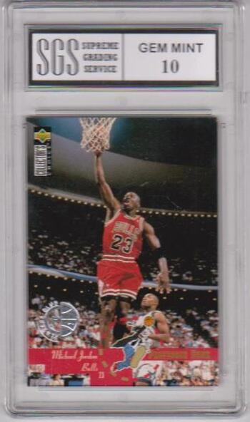 Graded Gem Mint 10 - Michael Jordan 1995-96 Collector's Choice Players Club #195 Insert Card