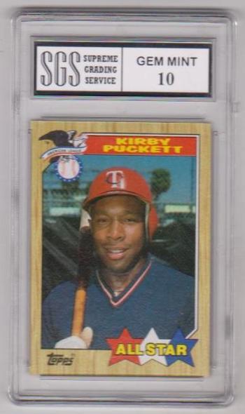 Graded Gem Mint 10 - Kirby Puckett 1987 Topps #611 Card