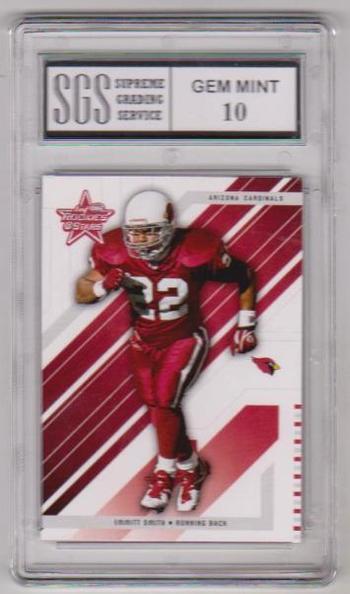 Graded Gem Mint 10 - Emmitt Smith 2004 Leaf Rookies & Stars #2 Card