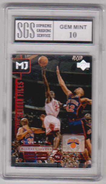 Graded Gem Mint 10 - Michael Jordan 1998 Upper Deck Living Legends #152 Card