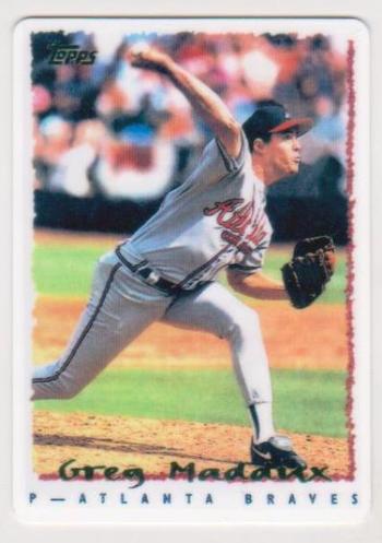 1995 Topps Greg Maddux #295 Porcelain Card
