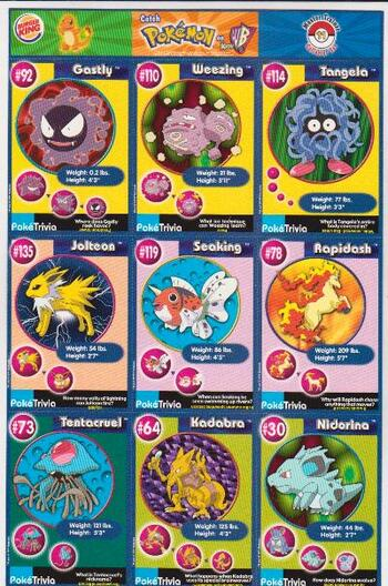 1999 Pokemon Master Trainer Collector Set Uncut 9 Card Uncut #11 Sheet
