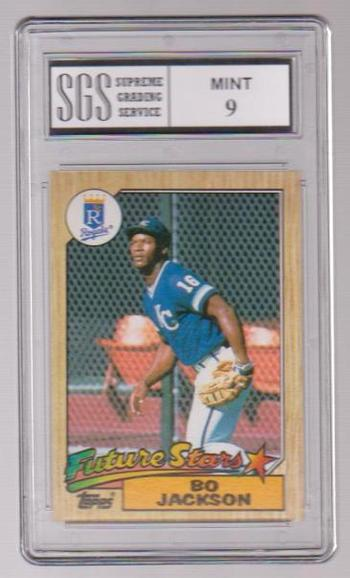 Graded Mint 9 Rookie - Bo Jackson 1987 Topps #170 Card