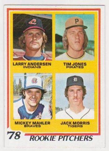 1978 Topps Jack Morris #703 Rookie Card - HOF'er