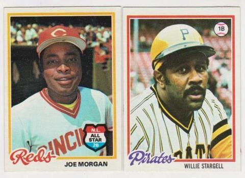 1978 Topps Willie Stargell #510 + Joe Morgan #300 Card Pair - HOF'ers