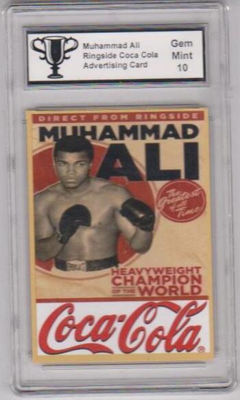 Graded Gem Mint 10 Muhammad Ali Coca-Cola Advertising Promo Card The Greatest