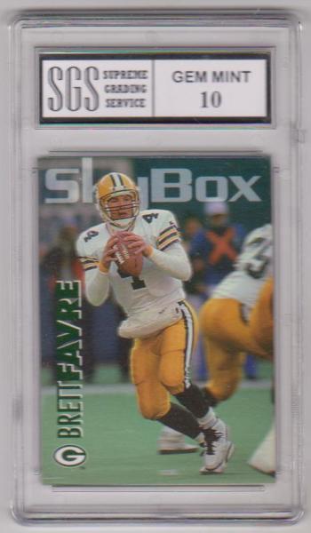 Graded Gem Mint 10 - Brett Favre 1993 Skybox #108 Card