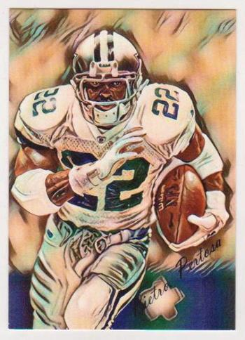#17/25 Produced - Emmitt Smith Signed By Artist ACEO Art Card