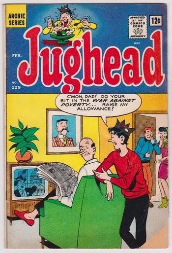 1966 Archie Comics JUGHEAD #129 Issue - 12 Cent Comic