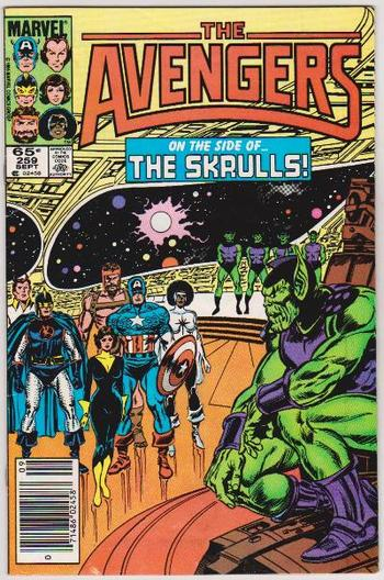 Scarce Double Cover Error - 1985 The Avengers #259 Issue - Marvel Comics