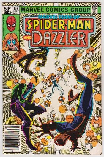 1981 Spider-Man And Dazzler #109 Issue - Marvel Comics