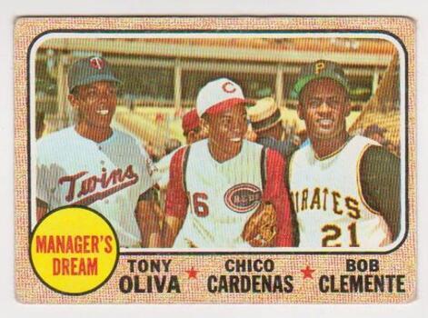 1968 Topps Roberto Clemente/Tony Oliva/Chico Cardenas #480 Card