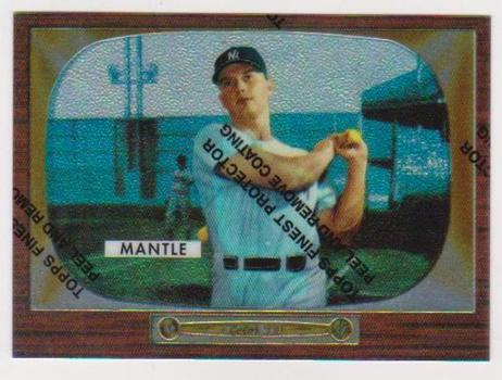 Mickey Mantle 1955 Bowman #202 Commemorative Card - 1996 Topps Finest #5 of 19 Insert Card