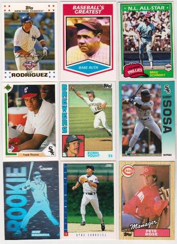 Baseball Card Collection 1981-2007 w/ Babe Ruth, Alex Rodriguez + More
