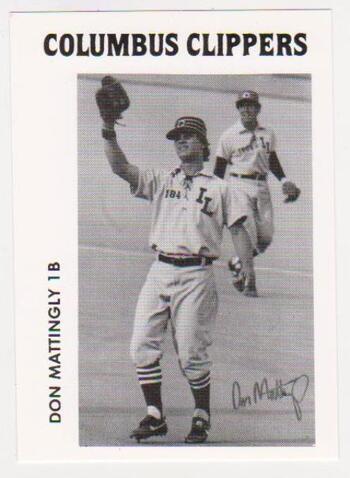 Rookie - Don Mattingly 1984 TCMA Columbus Clippers Minor League Promo Card
