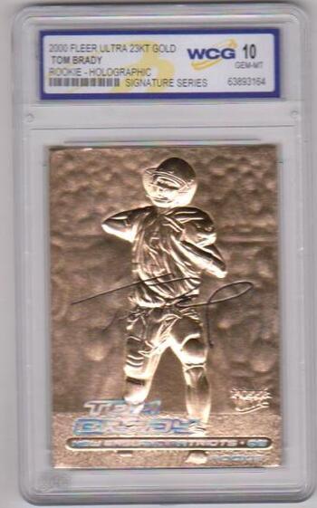 Rookie Graded Gem Mint 10 - Tom Brady 2000 Fleer Ultra 23 Kt Gold Card