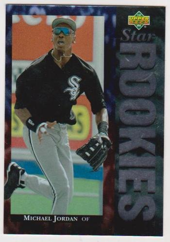 1995 Upper Deck UDA Michael Jordan Star Rookies #19 3.5x5 Jumbo Card