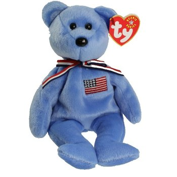 2001 Ty Beanie Baby AMERICA BEAR - New With Tags