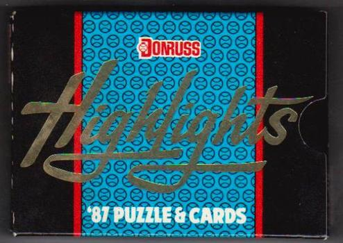 1987 Donruss Highlights Factory Sealed 56 Card Set