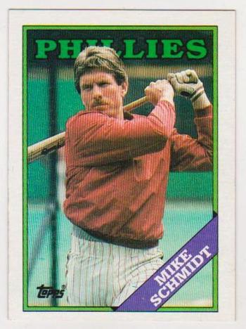 Error Card - Mike Schmidt 1988 Topps Wrong Back - RARE CARD