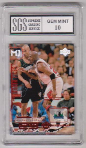 Graded Gem Mint 10 - Michael Jordan 1998 Upper Deck Living Legends #150 Card