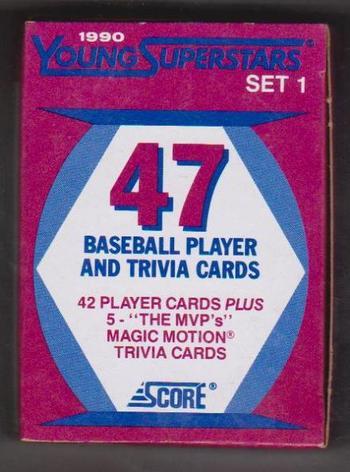 1990 Score Baseball Young Super Stars 42 Card Factory Set